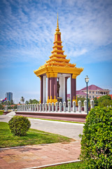 Statue of King Father Norodom Sihanouk  in Phnom Penh
