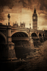 Fotomurales - Aged Vintage Retro Picture of Big Ben in London