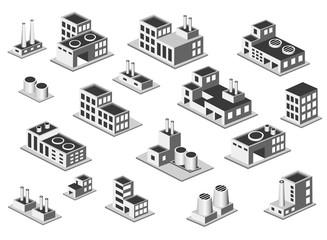 isometric icon set factory