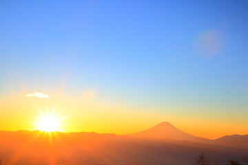 Mt. Fuji with sunrise