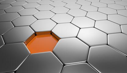 Baustein Lücke - Orange