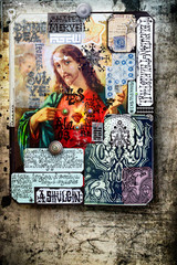 Poster Imagination Collage with sacred images
