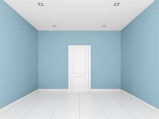 light blue wall in a empty room
