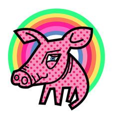 Pig and Rainbow
