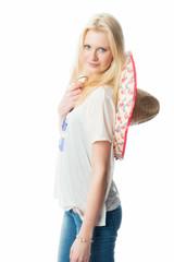 Blondes Mädchen mit Sombrero