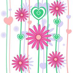 Seamless retro flower background vector