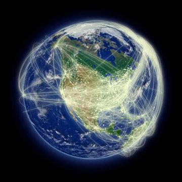 Network over North America
