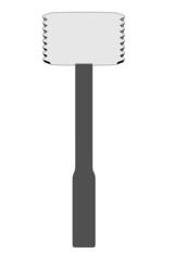 cartoon image of meat mallet