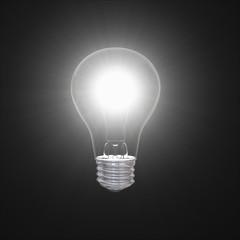 Lightbulb in dark