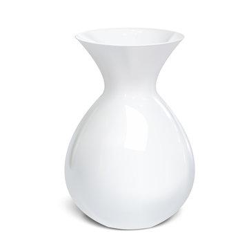 White vase isolated on a white background. Vector illustration