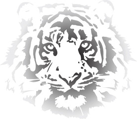 tiger head in gradient interpretation