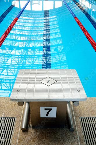Swimming pool starting block\