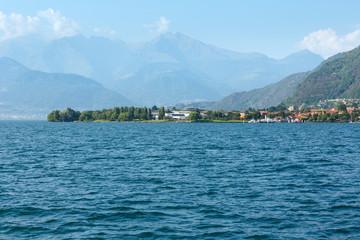 Lake Como (Italy) summer coast.
