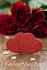Karte zum Valentinstag mit Text