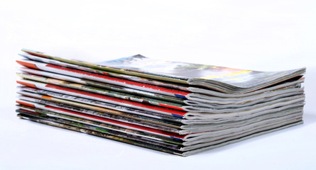 stack of newspapers used