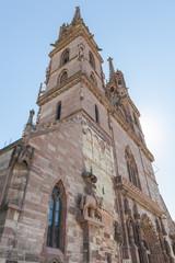 Basel, Altstadt, Münster, Kirche, Kirchtürme, Platz, Schweiz