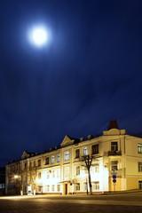 Keuken foto achterwand Brussel Illuminated night city lights