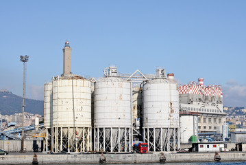 tanks in the port