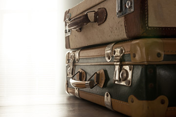 Travelling with a vintage suitcase