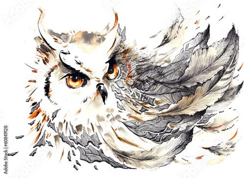 Wall mural bird
