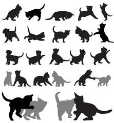 Kitten silhouettes