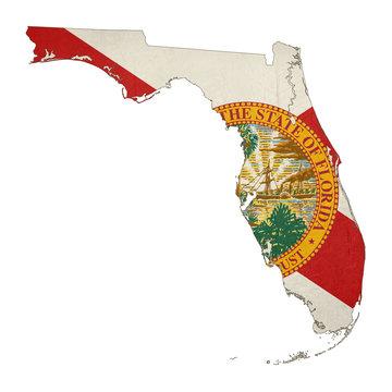 State of Florida grunge flag map