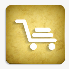 shopping cart parchment icon