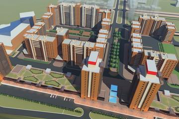 Residential Complex Irkutsk (3d rendering)