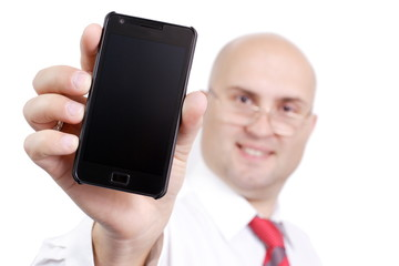 the businessman with phone