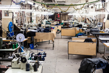 interior of a textile factory