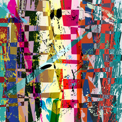 abstract background composition, with strokes, splashes and trap