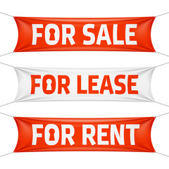 Fore Sale, For Lease and For Rent vinyl banners