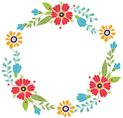 Flower frame. Designed for invitations for the holidays