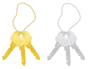 set keys door lock vector illustration
