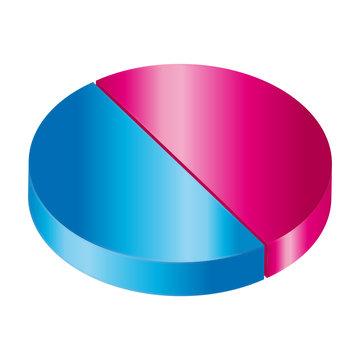 Circular diagram. Equality concept.