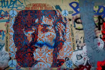 Mur de graffiti Lennon