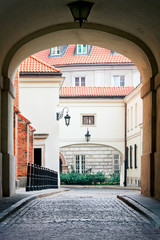 Warsaw's Old Town gates - Dziekania Street