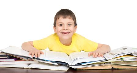 boy read a book