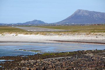 Runway at Benbecula Airport, Outer Hebrides, Scotland