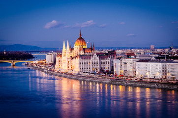 Photo sur Toile Budapest Budapest, Parliament at night