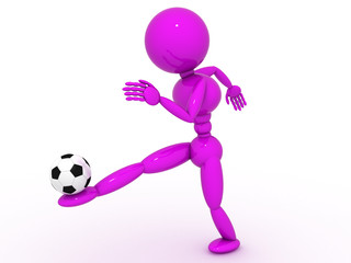 Soccer player with ball #9