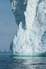 Big iceberg floating in Disko bay, North Greenland