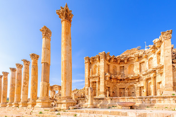 Nymphaeum in the ancient Jordanian city of Jerash, Jordan.