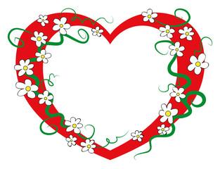 vector illustration of a flower heart