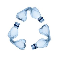 Fototapeta Concept of recycle.Empty used plastic bottle on white background obraz