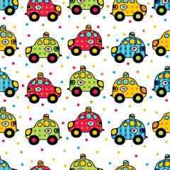 Seamless children's pattern with cars.