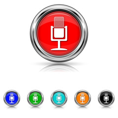 Microphone icon - six colours set