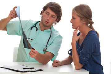 Doctor explaining the  x-ray results