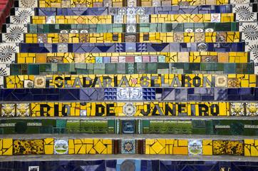 Treppe in Santa Teresa, Rio, Brasilien