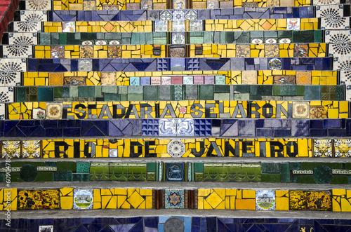 Wall mural Treppe in Santa Teresa, Rio, Brasilien